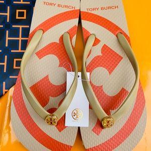 NWT Tory Burch Emory Flip Flop Flat Logo SANDALS